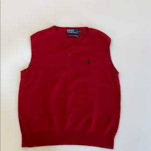 Polo by Ralph Lauren Sweaters - Red Pima Cotton Sweater Vest